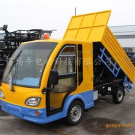 热销泰州2座电动货斗车,2吨工地运输载货车,四轮平板货运车