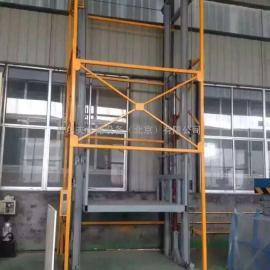 供应简易双导轨液压货梯 固定式液压升降平台升降机北京