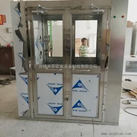厂家直销单人双吹风淋室之非标定制的双开门全不锈钢风淋室