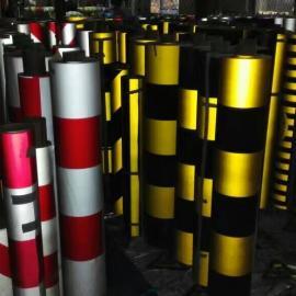 厂家供应防撞膜防撞警示贴电杆护套警示贴电线杆电力反光膜可定做