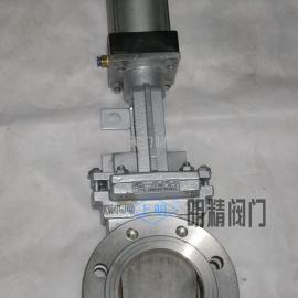 PZ673W气动圆形刀闸阀 不锈钢气动刀闸阀