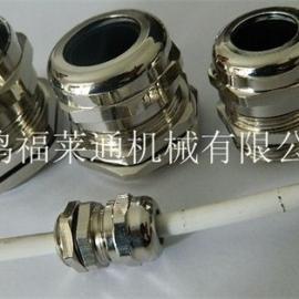 福莱通铜镀镍电缆接头 夹紧电缆防水防尘IP68格兰头
