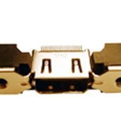 HDMI母座�B接器19PIN���螺�z孔的耳朵方形柱