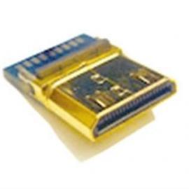 MINI HDMI连接器 19P夹板式公头(镀金)