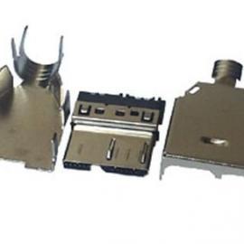micro USB3.0麦克三星手机充电插头三件套焊线式