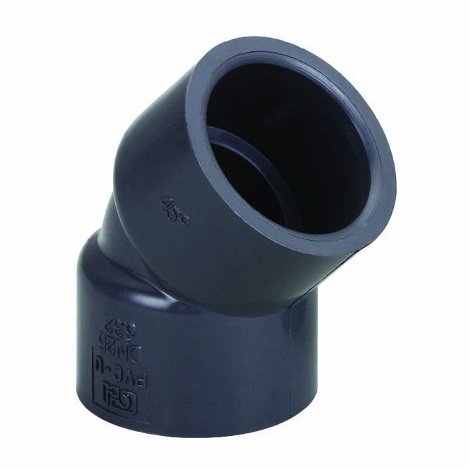 UPVC化工管件45度弯头 美标国标