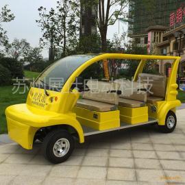 杭州舟山6座四轮电动观光车 校园代步电瓶车 公园游览车新款
