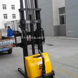 西林CDD15半电动堆高车 电动叉车 全电动升高车1吨3M