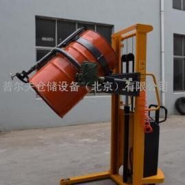 供应500公斤1.5米电动翻转 油桶堆高倒料车 油桶倒料机