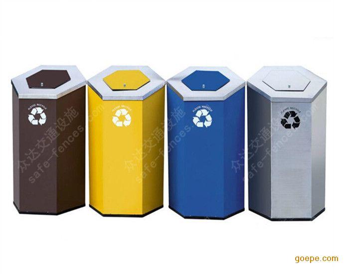 宁波众达厂家直销 室内分类垃圾桶 四分类组合垃圾桶 欢迎订购
