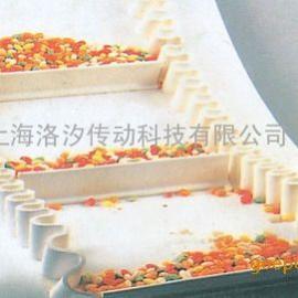 白色食品挡板输送带
