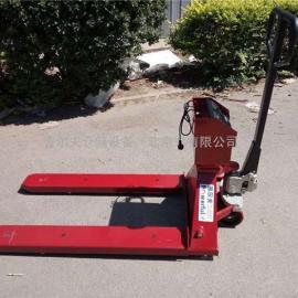 2吨称重液压搬运车 搬运叉车 电子称托盘搬运车 手动叉车