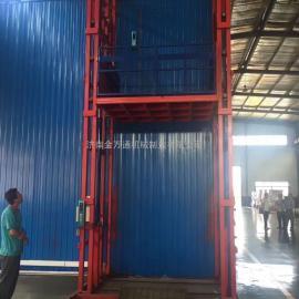 供应银川仓库货物提升机,电动链条式运货升降机。