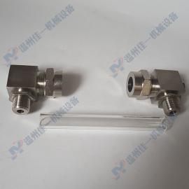 小型玻璃管液位计角阀 玻璃管水位计角阀 外螺纹液位计阀
