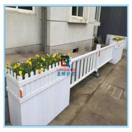 江阴仿木PVC发泡板花箱护栏 江阴仿木PVC花箱道路隔离栏