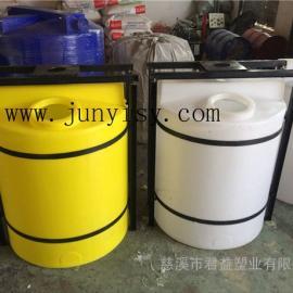 天津1立方PE加药搅拌计量桶 1吨防腐蚀搅拌罐