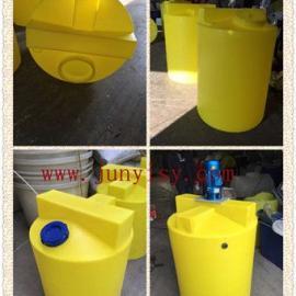 安徽3立方加药搅拌罐 阜阳3吨PE耐酸碱搅拌桶