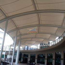 文化设施建筑膜结构,张拉膜,PTFE膜材,索膜结构,膜结构