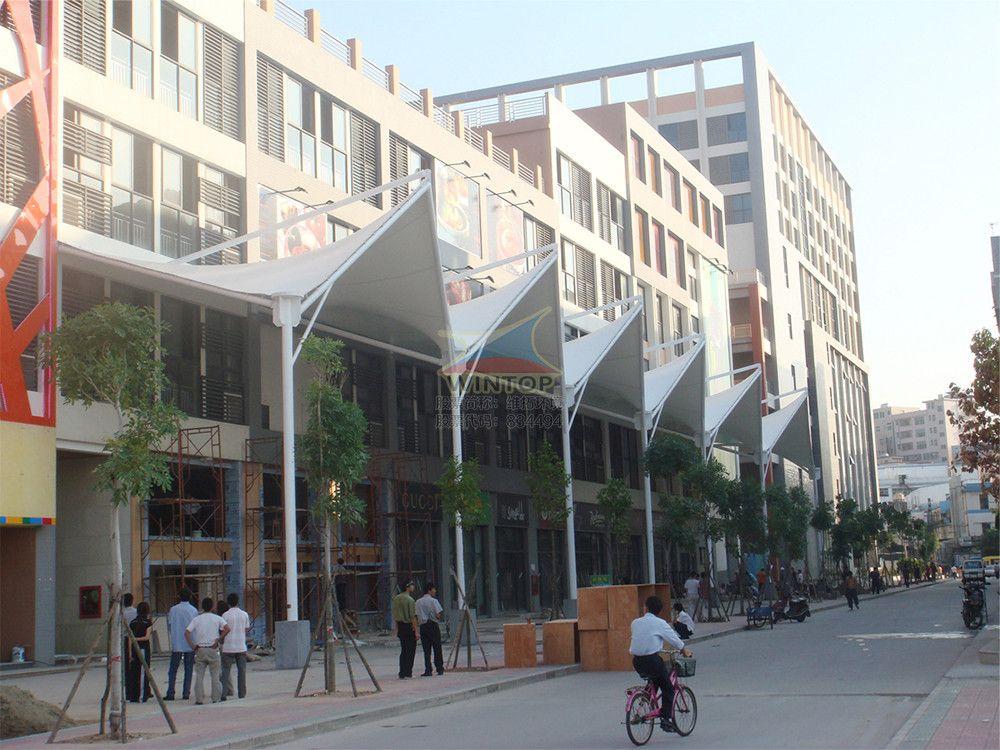 商业设施建筑膜结构,张拉膜,PTFE膜材,索膜结构,膜结构