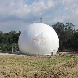 养殖厂沼气收集与净化,双模沼气柜厂家, 膜结构储气罐, 双模沼