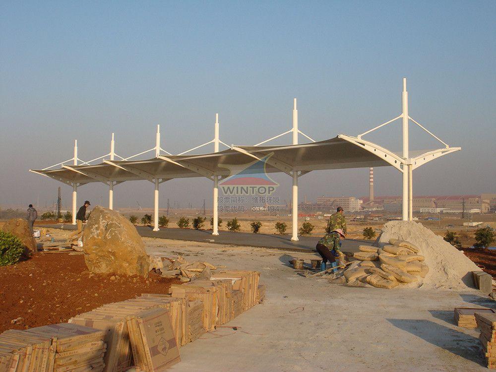 观景台景观膜结构,美观耐用,膜材加工厂,防晒避雨