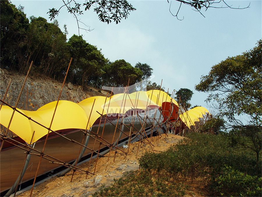 景区扶梯膜结构,美观耐用,膜材加工厂,膜结构