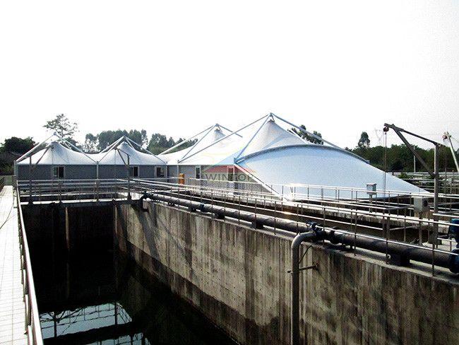 南宁三塘污水池加盖,废臭气收集与净化,膜结构