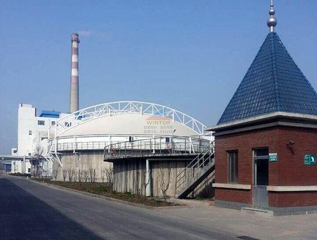 汇胜集团污水池加盖除臭,废臭气收集与净化,污水处理,膜结构