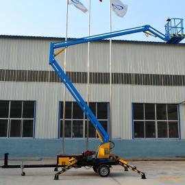 折臂式升降平台,升降8-14米,高空作业范围大