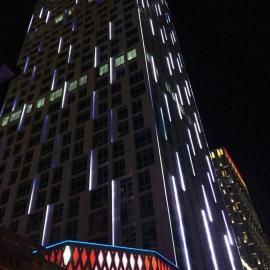 四川照明亮化工程施工 数码管工程案例