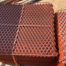 呼和浩特建筑爬架钢板网新型防滑脚踏菱形孔冲孔板网
