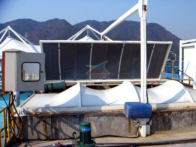 大洋化工厂污水池加盖除臭,污水处理,反吊膜结构