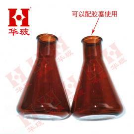 1000ml 棕色三角烧瓶无塞 玻璃瓶锥形烧瓶耐高温高硼硅