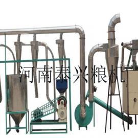 大型面粉机是由电动机带动进行物料碾磨的