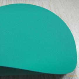 1级耐酸碱绿色PVC夹网格防化服面料