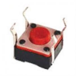 6*6轻触开关红色头(反插弯脚)-按键开关250gf