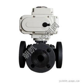 Q944(5)F电动三通球阀,电动换向球阀,电动L型球阀厂家