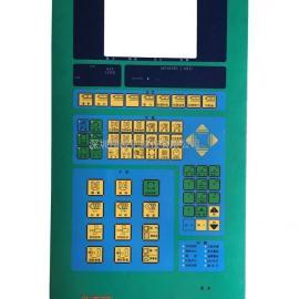 震雄注塑机CH-3.8PC电脑操作面板按键贴纸