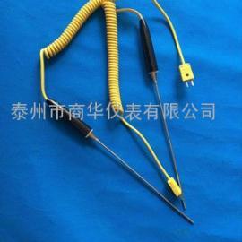 K型热电偶测铝水专用快速手持式热电偶WRNK-104