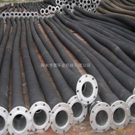 水泥厂用法兰连接大口径耐温耐磨橡胶管DN300mm-宇星管业生产厂家