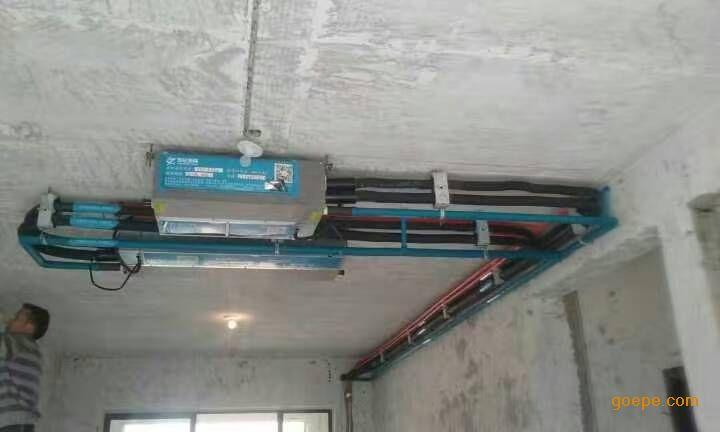 b,空调藏起来,品味亮起来:室内机,冷媒管,排水管和电线完全隐身于吊顶