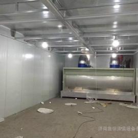 无泵水幕喷漆台 无泵水帘柜 零排放 非标制作