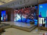 宴会厅背景墙4米观看距离用P3全彩led显示屏效果怎么样