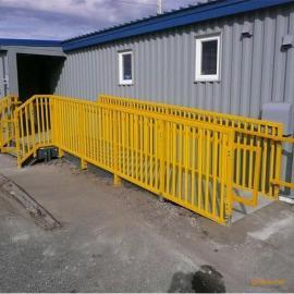 污水厂便携式安全爬梯/污水池施工玻璃钢防护爬梯厂家热销