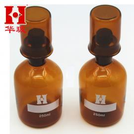 棕色双盖污水瓶 双盖溶解氧瓶500ml 污水厂专用玻璃仪器