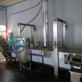 油豆腐油炸机 厂家主荐 有为牌全自动豆泡油炸机生产线