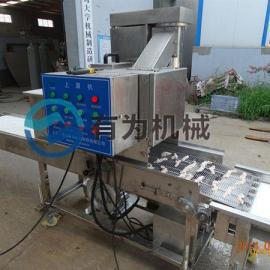 行业龙头企业有为机械304不锈钢全自动鸡柳条裹糠上雪花片机