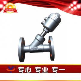气动角座阀 法兰气动角座阀 双作用气动角座阀