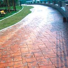南京压花地坪施工、南京艺术压模彩色地坪