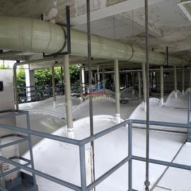 上海大众污水处理,废臭气收集与净化,钢支撑反吊膜